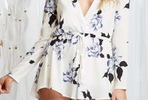 Playsuits long sleeve
