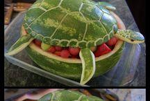Fructe si legume sculptate