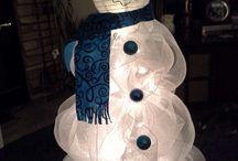 snowman christmas tree / Christmas in Florida ideas