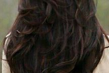 Long, dark brown hair <3