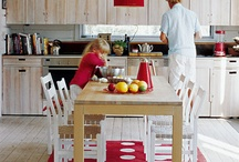 Family Kitchens / The hunt for kitchens designed for families-- where kids can help cook and families can just hang out!