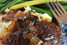 Salisbury steak burgers