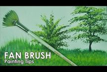 Fan brush, how to use