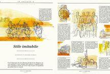 Style, Corriere della Sera, watercolor illustrations / Watercolor and ink illustrations for men fashion, sportwear