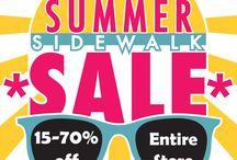 Summer Sidewalk Sale 2017