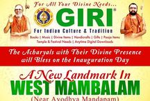 GIRI's New Branch @ West Mambalam / GIRI Welcomes you with family & friends for our west mambalam branch, Inaugurate by The Acharyals - near Ayodhya Mandapam on 18 Jan.