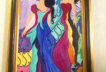 Mine malerier. / Malerier utført i akryl - av meg.