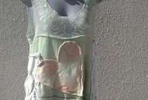 funky clothing / upcycled clothing made from remnants...clothing....linen...available through ..funky clothing by trish powley ...on facebookl.......
