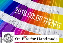 2018 Color Trends / Hot Handmade Color Trends for 2018!
