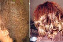 Hair Weaves- before and after / Transform yourself with Chatto's beautiful hairstyles to suit your hair and face.