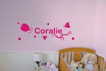 Autocollants muraux - décalque mural / Adhésif mural, muraux décoratifs pour les chambres d'enfants. Sticker.