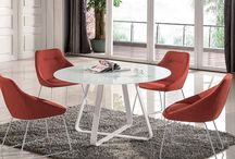 Modern Glass Fabric Metal Pumpkin Round Dining Collection
