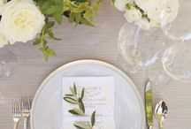 Olive green and white wedding