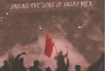 "Les Miserables. / ""Red, the blood of angry men. Black, the dark of ages past."""