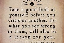Quotes / Wisdoms of life