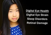 Digital Eye Health℠ / Unprotected high energy visible (HEV) blue light over-exposure affect us in 3 ways:  1. Induces digital eyestrain, fatigue, dryness and neck/back pain;  2. Disrupts natural circadian rhythm causing sleep issues;  3. Causes retinal cell damage that may lead to earlier macular degeneration*.  It's very important that we protect our eyes from the harmful blue light when on various digital devices.