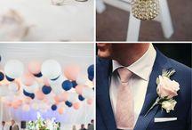 Blue and blush wedding stuff