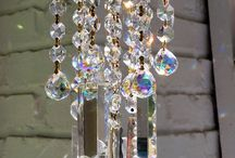 Crystal windchimes and chandliers