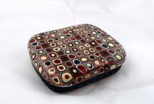 Polymer Clay Covered Metal Tin