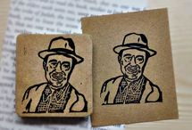 Portrait Stamps / Custom handmade portrait stamps. Eraser stamps, custom stamps