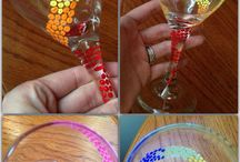 wine glass painting / Wine glass crafts