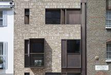 dense city facades