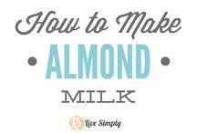 아몬드 우유