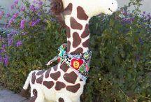Giraffe Cloth Doll and Animal Patterns