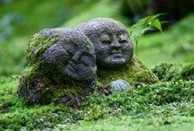 Jardin zen, jardin japonais / Le jardin zen ou japonais est un jardin minimaliste où minéral et végétal cohabitent en parfaite harmonie en offrant calme et sérénité. #zen #japonais #jardin