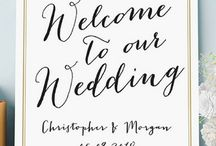 Wedding + Event Signage / Whether you want to guide your guests to the reception or let them know which hashtag to use on your big day, say it with a personalized sign!