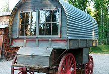 Sheepherder and Gypsy wagons