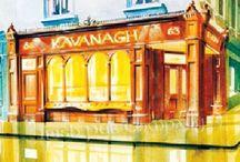 Old Irish Pub Sketches from our portfolio / Old Irish Pub Sketches from the Irish Pub Company Portfolio
