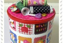 latas decoradas costura