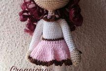 bonecas de croche.