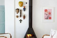 free standing fireplace ideas