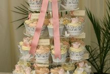 Romance Cupcake Tower / Romance Cupcake Tower bespoke wedding cake, serving 115 approx, cost from £500 Please visit www.eggandmoos.co.uk for contact details