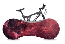 Bicycle cover designs inspired by the universe / Keep your bike indoors without making a mess!  Capturing dirt in its stretchy, machine-washable cover, VELOSOCK® helps you keep outside dirt from making a mess of your floors. VELOSOCK® also keeps your car's interior clean while transporting your bike.   Fits 99% of all adult bicycles.
