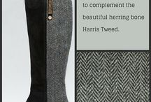 Snow Paw Harris Tweed Knee Boots / Introducing our gorgeous Harris Tweed Knee High boots, crafted with the smoothest lamb suede to complement the beautiful herring bone Harris Tweed. #HarrisTweed #ScottishFashion  www.snowpawuk.com/women/womens-boots/knee-high-boots.html