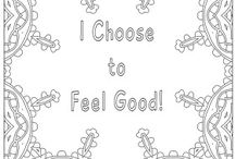 Affirmation Coloring Pages / Adult Coloring