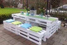 table de patio fait avec palette