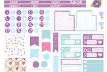 Календари, стикеры, блокноты, картинки.