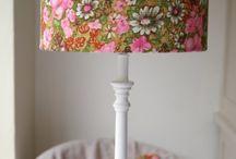 Evie Eccles Handmade Vintage Lampshades / Evie Eccles Handmade Vintage Barkcloth Lampshades