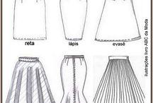 Tipos de saia.