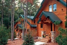 Log Homes / Log Siding / Stunning exteriors of log homes, cabins, and lodges built from Heartwood Mills Products.