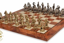 Metal Chess Sets with Boards