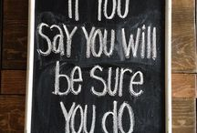 """CHALK talk...daily inspiration expressed in """"chalk"""" . / I LOVED their  """"CHALKBOARDS"""" so much, I created this one to display them all!  Thank you, Wedding Chicks for such inspirational and POSITIVE thoughts.  *I have added a OTHER """"chalk"""" boards that inspire me as well."""