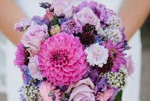 Purple Wedding Flowers (Bouquets, Centerpieces, Decor)