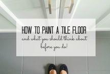 Painting tile floor