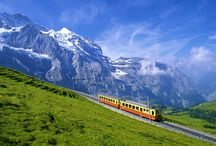 Switzerland / Switzerland is a mountainous Central European country, home to numerous lakes, villages and the high peaks of the Alps. Old Towns within its cities contain medieval landmarks like capital Bern's Zytglogge clock tower and Cathedral of Bern. The country is also a destination for its ski resorts and hiking trails. Banking and finance are key industries, and Swiss watches and chocolate are renowned.