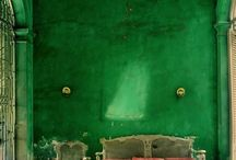 Red and green interiors